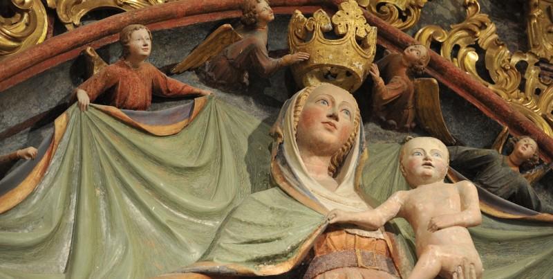 MARIJA ZAVETNICA S PLAŠČEM (okoli 1410) na Ptujski Gori je ena največjih mojstrovin tedanjega časa - Foto Družina